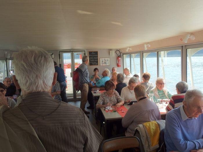 Nous avons bien apprécié le bon repas servi à bord.